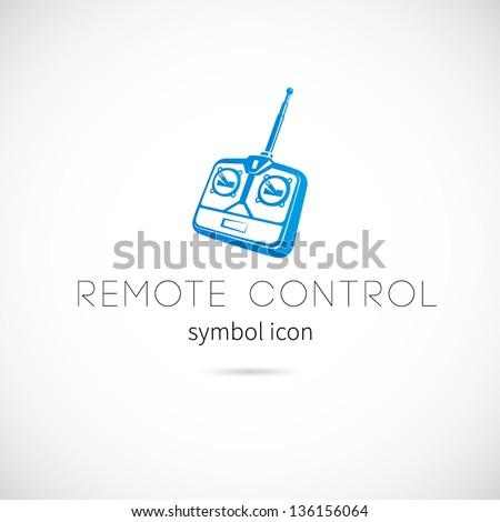 Remote control symbol icon or Logo Template - stock vector