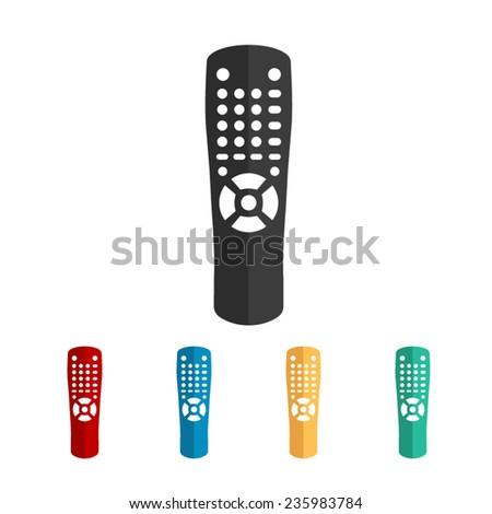 Remote control - vector icon, flat design - stock vector