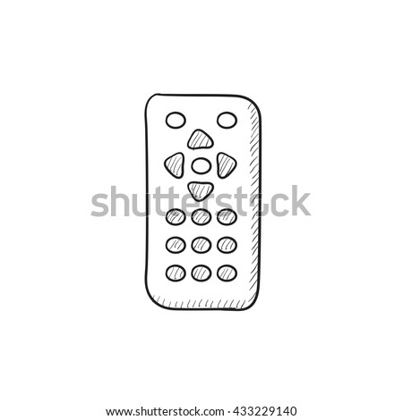 Remote control vector sketch icon isolated on background. Hand drawn Remote control icon. Remote control sketch icon for infographic, website or app. - stock vector