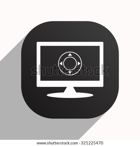 Remote controller's dial, knob, joystick template. icon. vector design, black button for Mobile Applications - stock vector