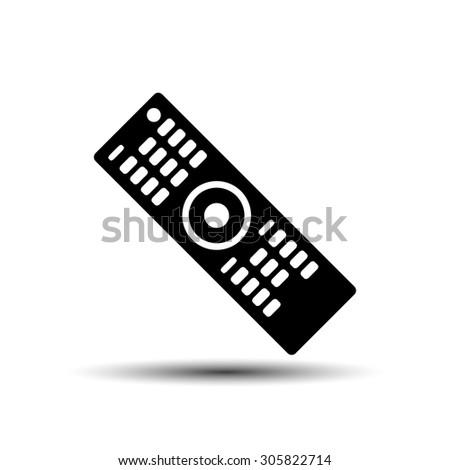remote to the TV icon vector - stock vector