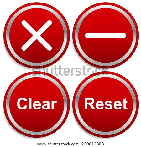 Removal buttons - stock vector
