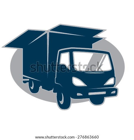 Removal truck symbol  - stock vector