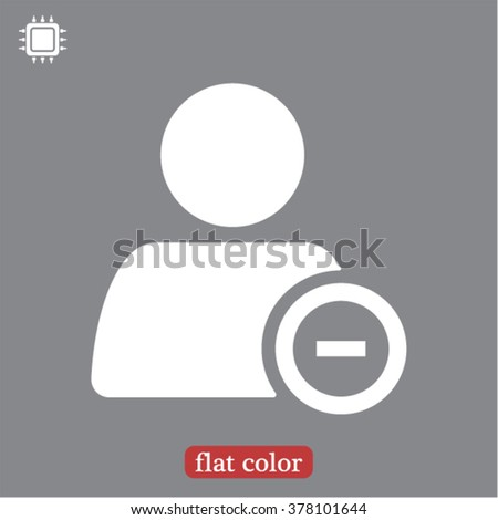 Remove a person  icon, remove a person  vector icon, remove a person  icon illustration, remove a person  icon eps, remove a person  icon jpeg, remove a person icon picture, remove a person  flat icon - stock vector