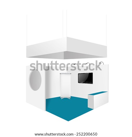 Render commercial Stand in vector