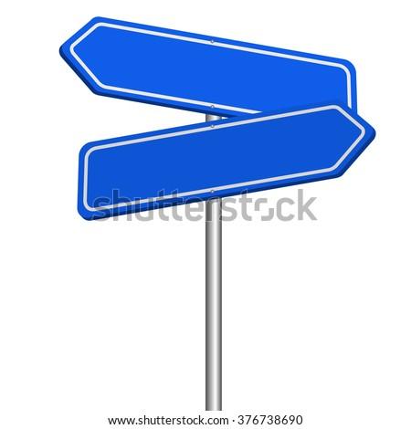 rendering of blank signs - stock vector