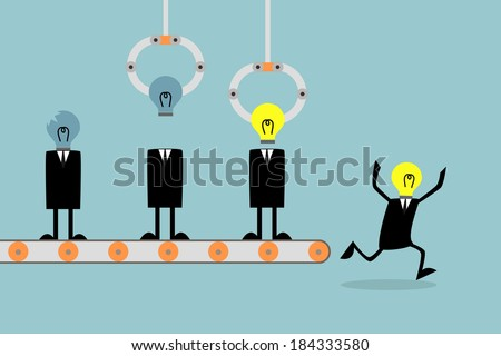 Renew your idea, Business concept. - stock vector