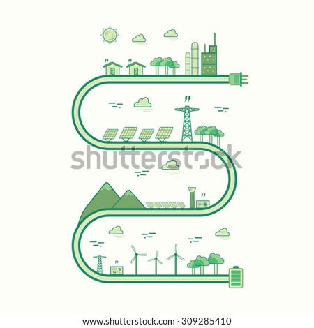 renewable energy graphic line