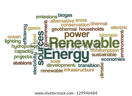 Renewable energy Word Cloud - stock vector