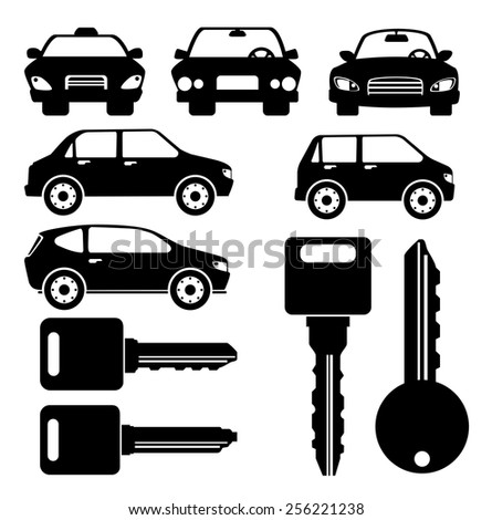 Rent a car design, vector illustration.