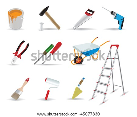 Repair and tools. Vector illustration - stock vector