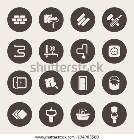 Repair icon set - stock vector