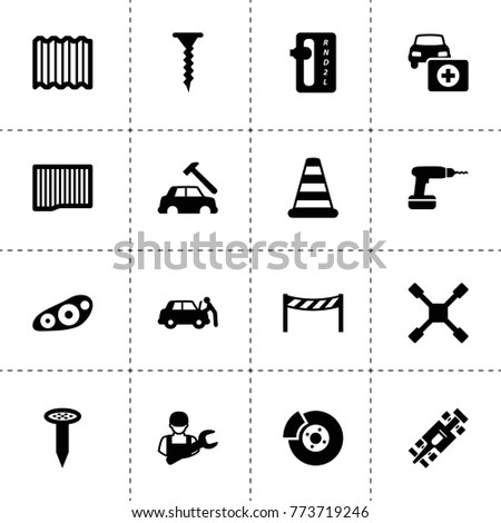 Repair Icons Vector Collection Filled Repair Stock Vector 773719246