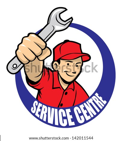 repair man - stock vector