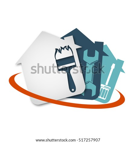 Repair of home with a tool vector