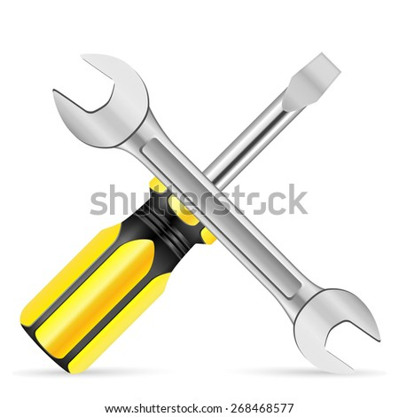 Repair tool on a white background. Vector illustration.