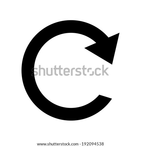 Repeat sign icon on white background. - stock vector
