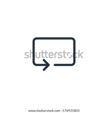 Repeat Thin Line Icon Set On Stock Vector 576935803 Shutterstock