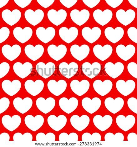 Repeatable heart pattern, heart background. Eps 10 vector. - stock vector