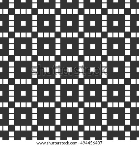 Repeatable mosaic pattern with geometric structure of squares
