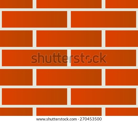 Repeatable pattern of undamaged brick wall texture - stock vector