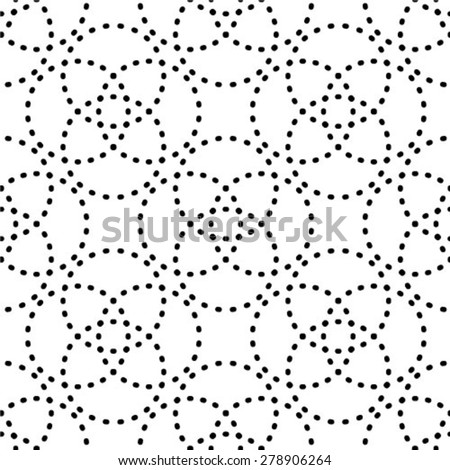 Repeating abstract background with dots, vector seamless pattern.