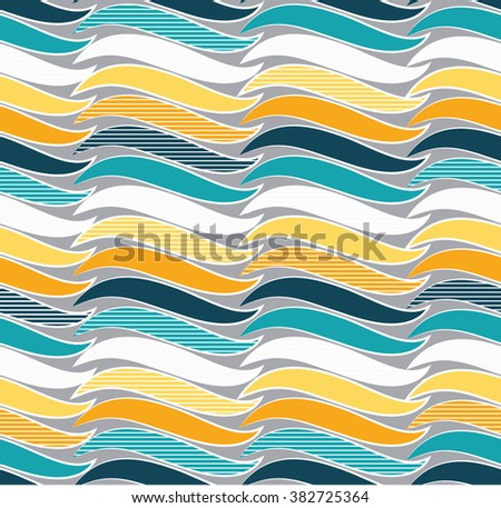 Repeating curve pattern design. Abstract Curve background, can be used for wallpaper, cover fills, web page background, surface textures. Geometric simple print. - stock vector