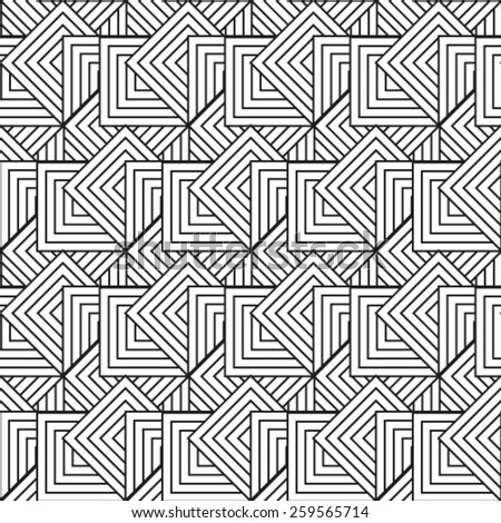 Repeating geometric tiles with smooth rhombuses. Vector pattern.