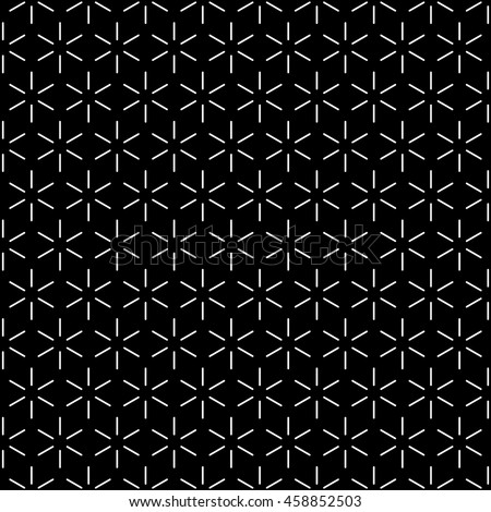 Repeating Outlined Cube Faces Pattern Wallpaper - White Line Segments on Black Background - Flat Contrast Graphic