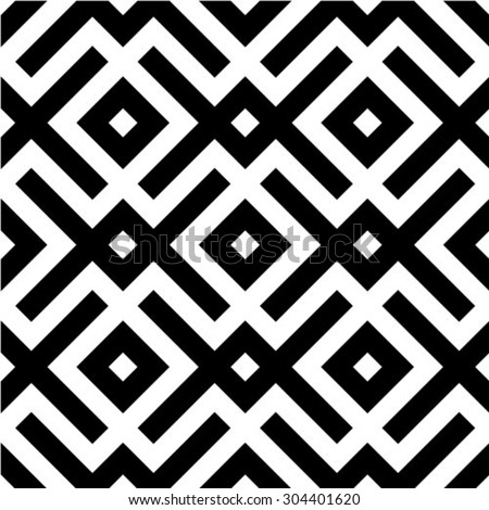 Repeating seamless vector background. Black and white texture. diamonds. - stock vector