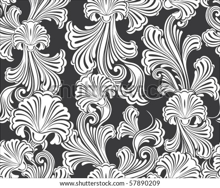 Repeating vector background pattern - stock vector