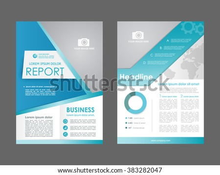 Report, flyer, brochure. Design layout template in A4 size