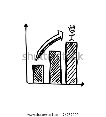 report growing chart business - vector illustration