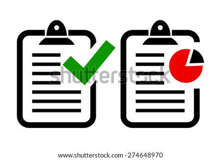 Report icons - stock vector