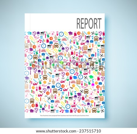 report soccer background icon color. Illustration eps10  - stock vector