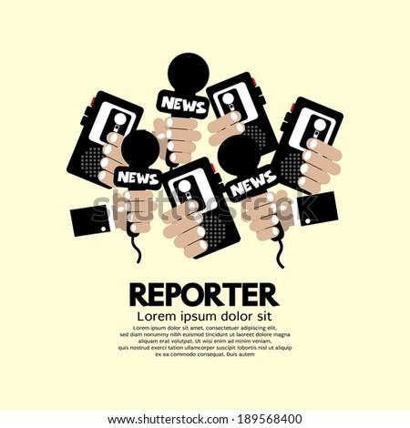 Reporter Concept Vector Illustration - stock vector