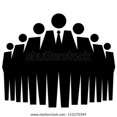 Representative of a group of people, leadership vector illustration concept - stock vector