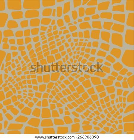 Reptile skin seamless pattern - stock vector