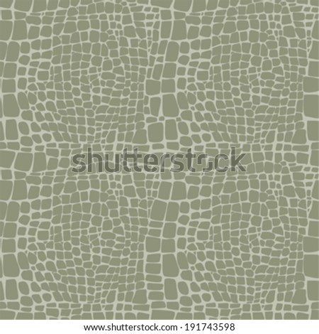 Reptile skin seamless vector pattern - stock vector