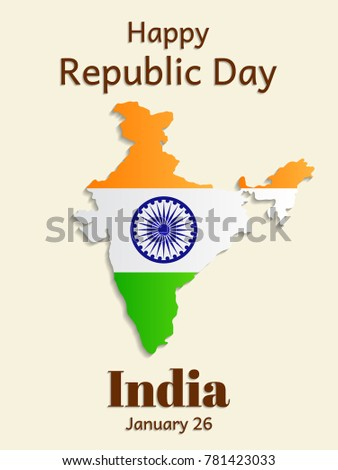 Republic day india greeting card vertical stock vector 2018 republic day in india is a greeting card or vertical banner flag of india in m4hsunfo
