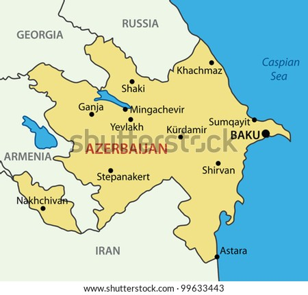 Republic of Azerbaijan - vector map