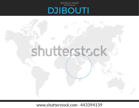 Republic Djibouti Location Modern Detailed Vector Stock Vector - Republic of djibouti map