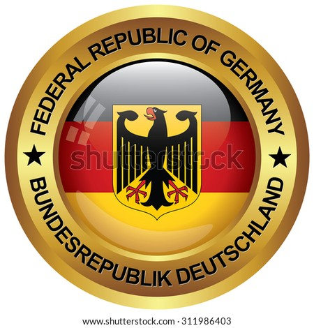 republic of germany icon in english and german language