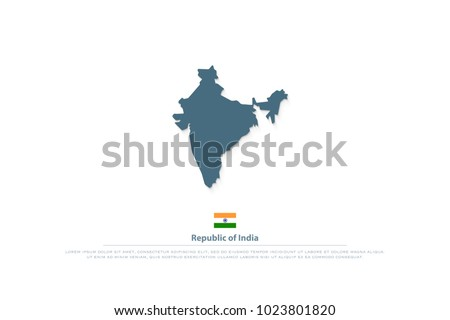 Republic India Isolated Maps Official Flag Stock Vector 1023801820 ...