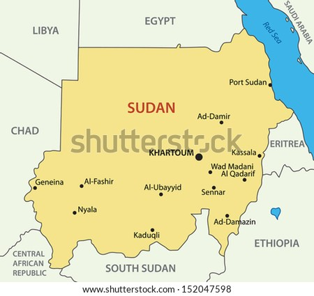 Republic of Sudan - vector map