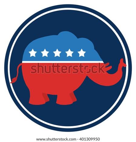 political elephant republican vs donkey democrat stock vector