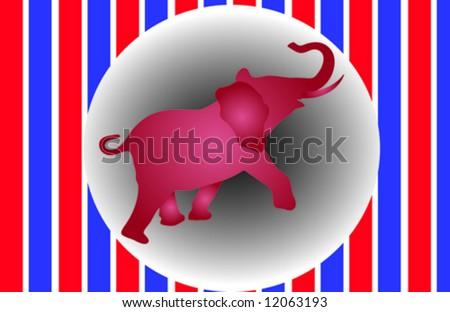 Republican Elephant Vector - stock vector