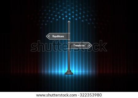 Republicans or democrats - USA Presidential Election - stock vector
