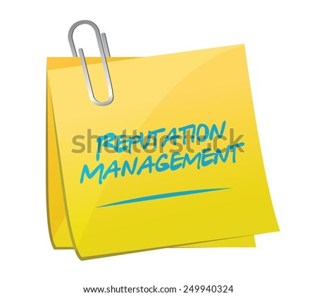 reputation management memo post illustration design over a white background - stock vector