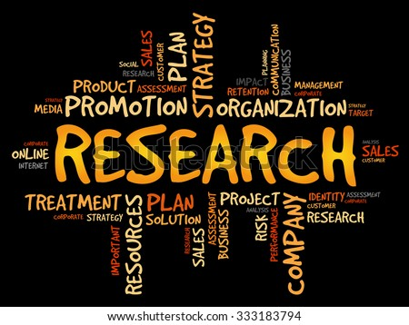 RESEARCH word cloud, business concept - stock vector